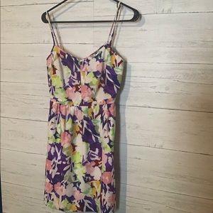 J crew floral spaghetti strap dress